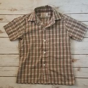 Vintage Sears Boy's Short Sleeve Button Down Top